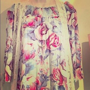 Off the shoulder flower summer dress